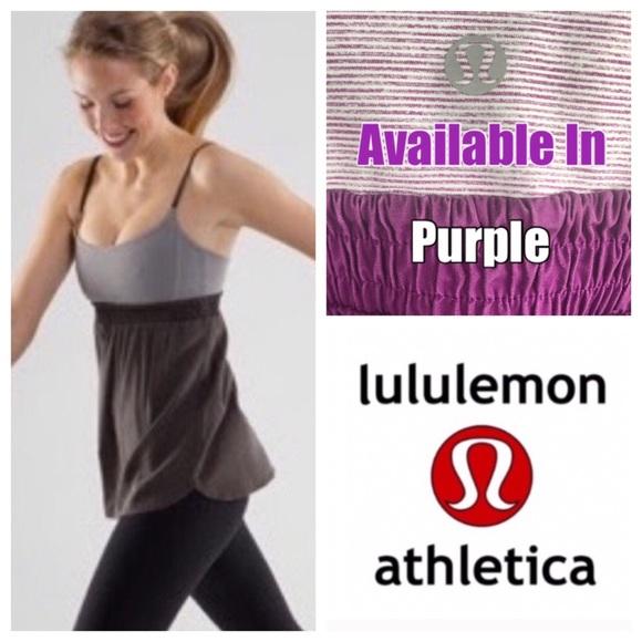 lululemon athletica Tops - Lululemon Purple Wee Stripe Bliss Tank